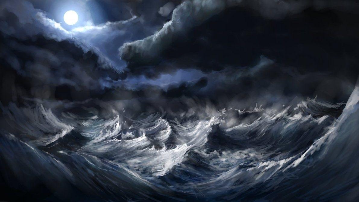 штормовое море